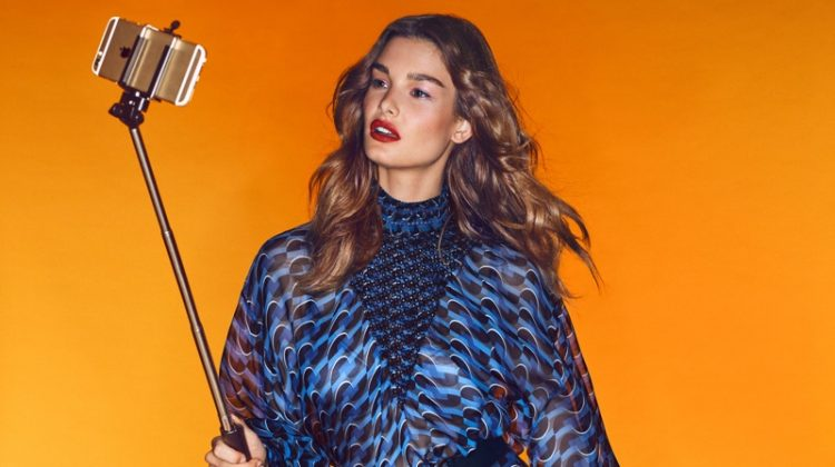 Ophelie Guillermand Steps Up Her Selfie Game for Vogue Mexico