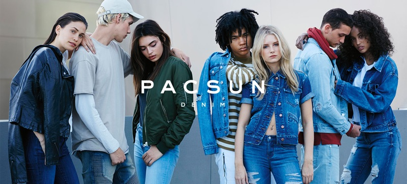 Denim jackets are featured in PacSun's latest advertisements