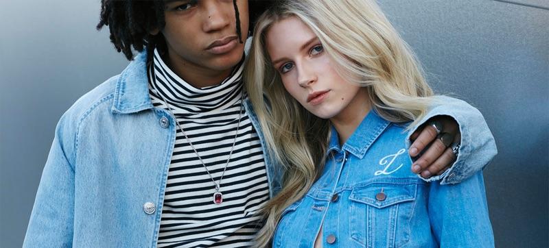 Luka Sabbat and Lottie Moss star in PacSun's 2016 denim campaign