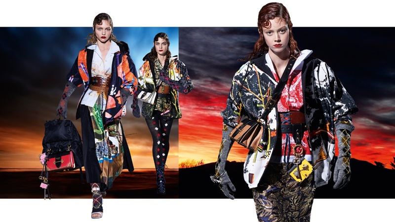 Sasha Pivovarova, Marina Perez and Natalie Westling star in Prada's fall-winter 2016 campaign