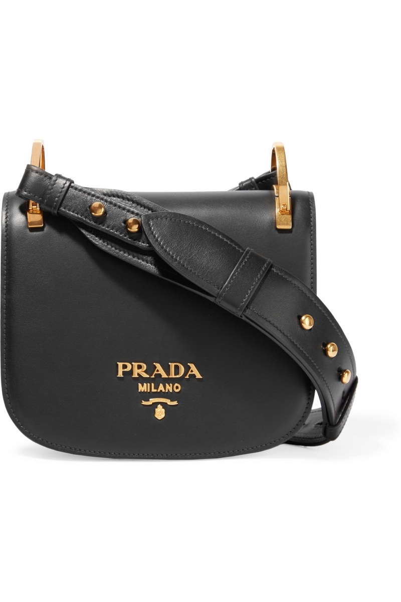 Prada Pionniere Leather Shoulder Bag