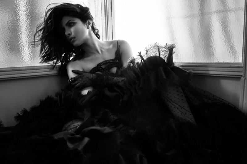Priyanka Chopra wears Gucci dress, gloves and ring