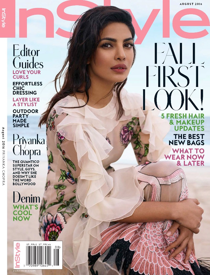 quantico 39 s priyanka chopra stuns for instyle cover story. Black Bedroom Furniture Sets. Home Design Ideas