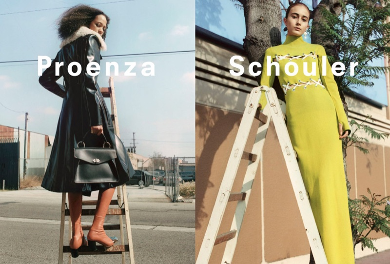 Selena Forrest and Alexa Peralta star in Proenza Schouler's fall-winter 2016 campaign