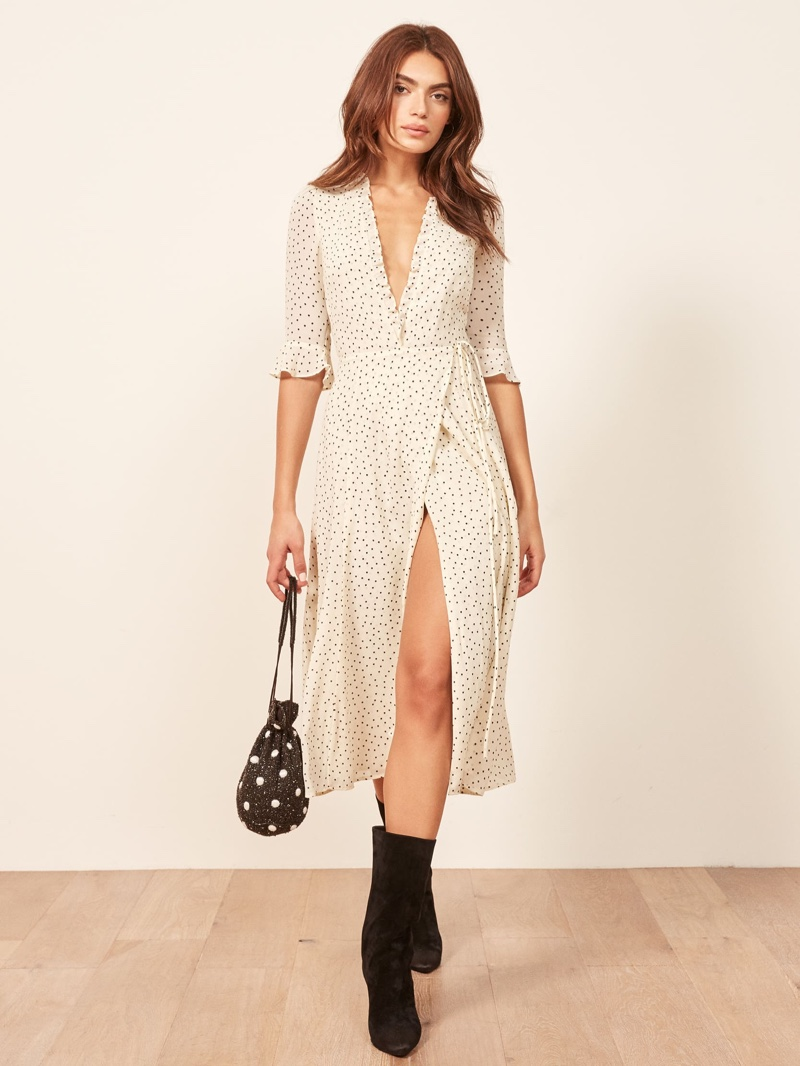 Reformation Amanda Dress in Pepper $248