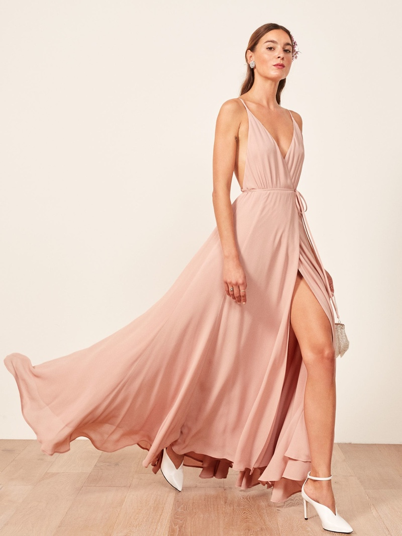Reformation Callalily Dress in Blush $428