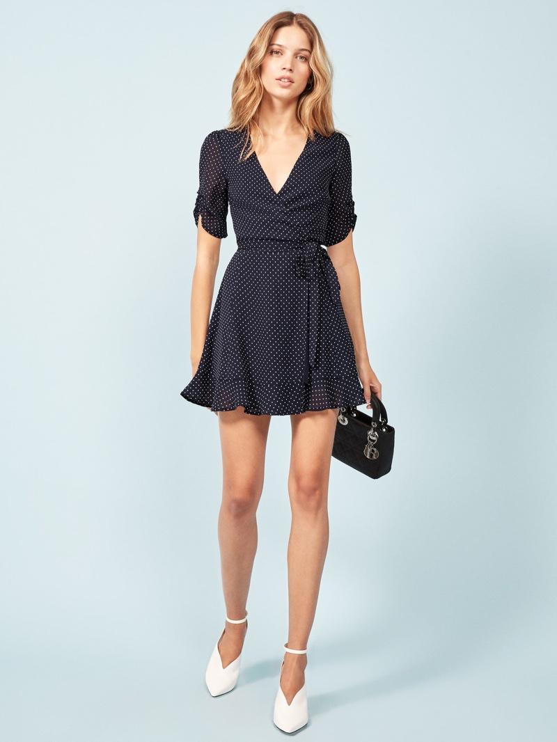 Reformation Monica Dress in Button $198