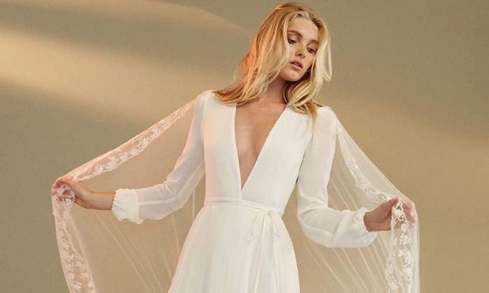Elsa Hosk Wows in Reformation's Wedding Dress Collection