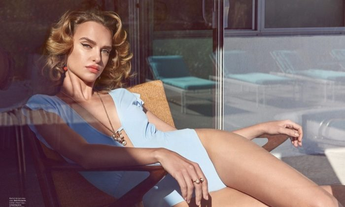 Masha Rudenko Serves Retro Poolside Glamour for L'Officiel Switzerland