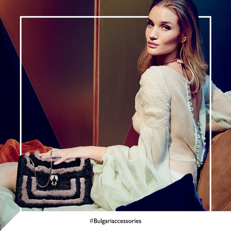 Rosie Huntington-Whiteley stars in Bulgari Serpenti fall 2016 handbag campaign