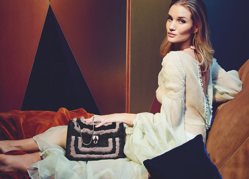 Rosie Huntington-Whiteley Stuns in Bulgari Serpenti Handbag Campaign