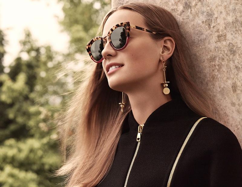 Ine Neefs poses in Salvatore Ferragamo's fall-winter 2016 eyewear campaign
