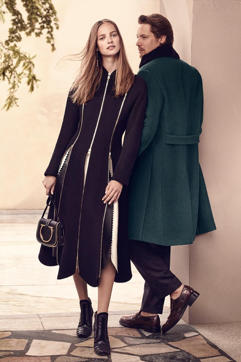 Ine Neefs and James Rousseau star in Salvatore Ferragamo's fall-winter 2016 campaign