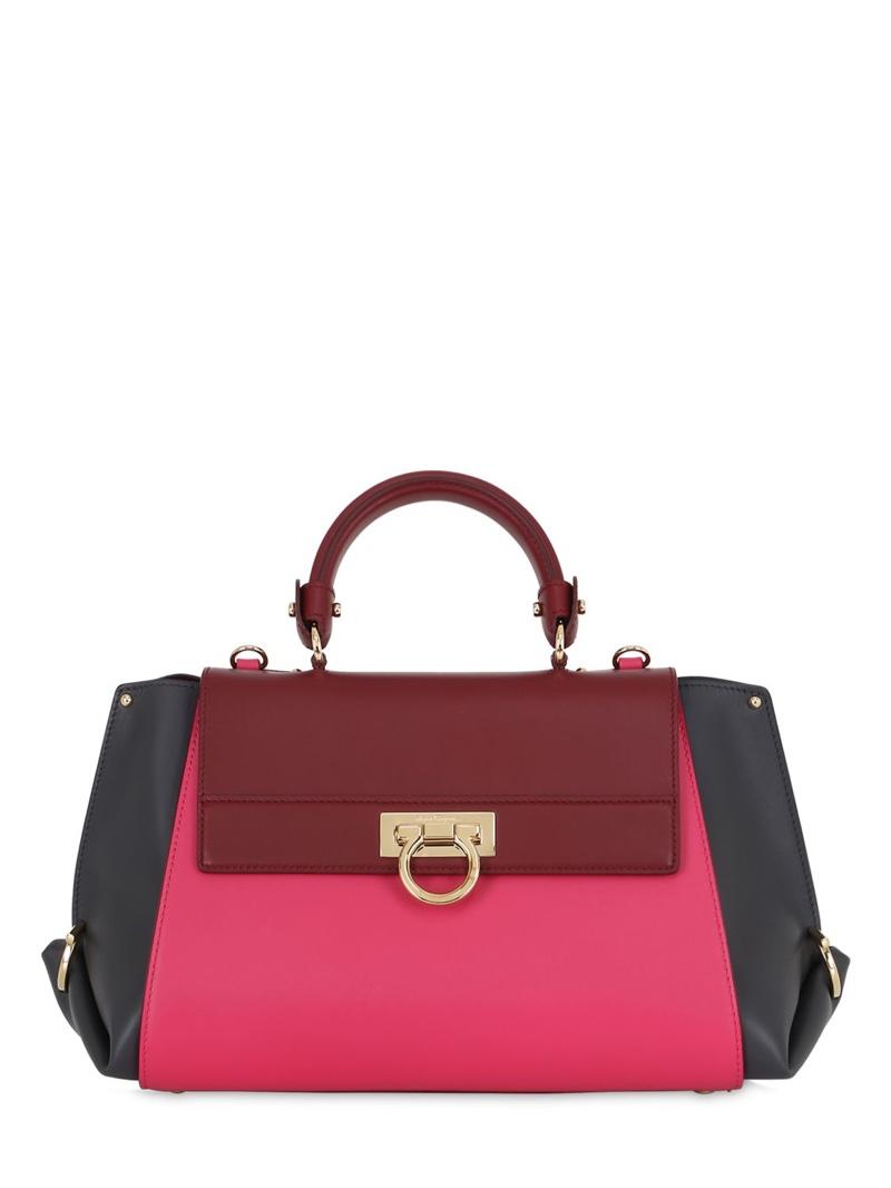 Salvatore Ferragamo Sophia Color Blocked Leather Bag