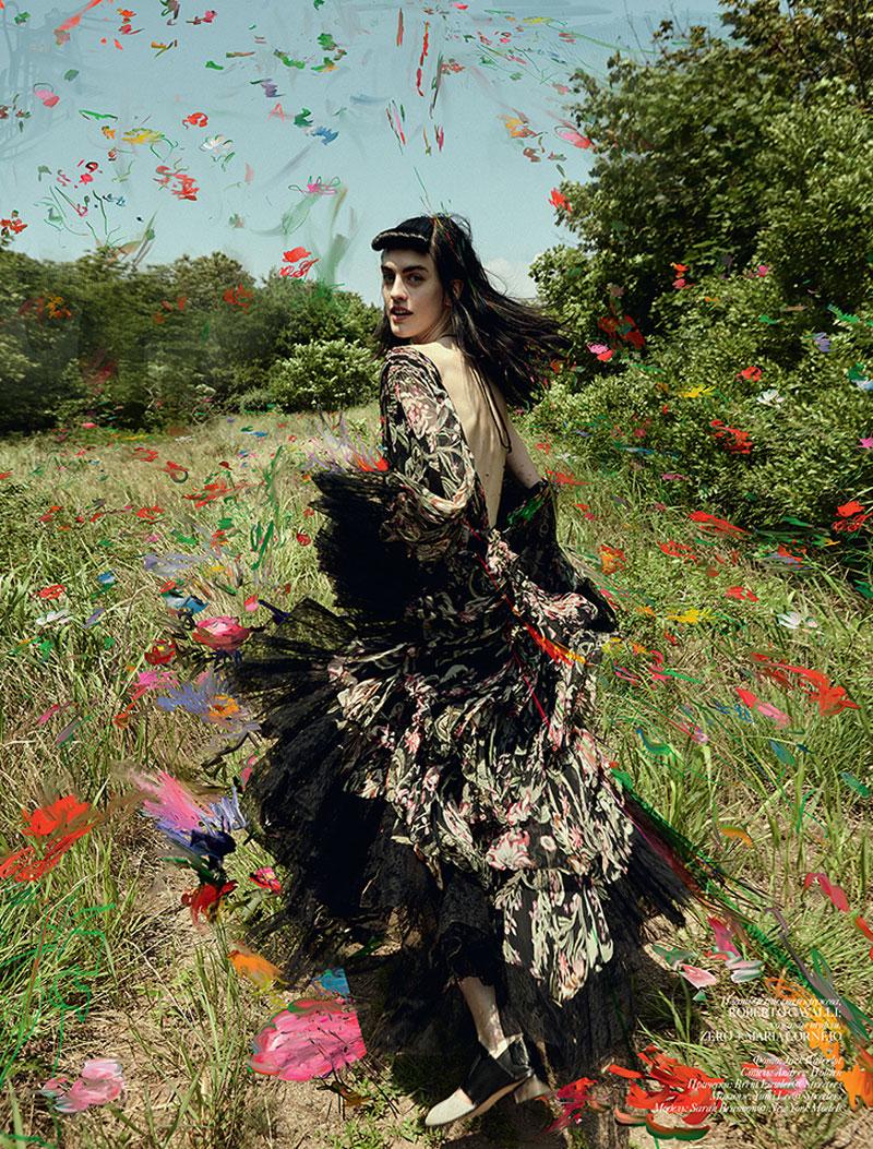 Sarah Brannon is a Glamorous Wild Child in Vogue Ukraine