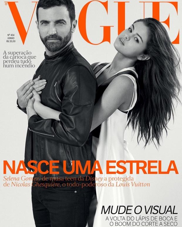Nicolas Ghesquière and Selena Gomez on Vogue Brazil June 2016 Cover