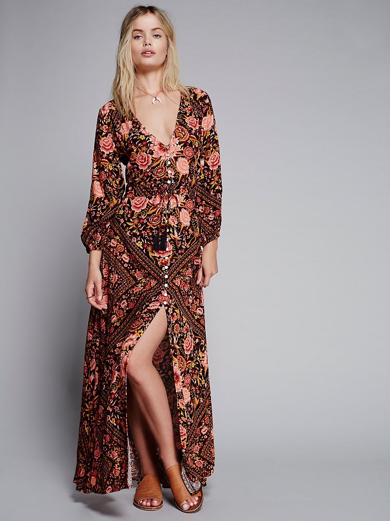 Spell & the Gypsy Collective Babushka Printed Maxi Gown