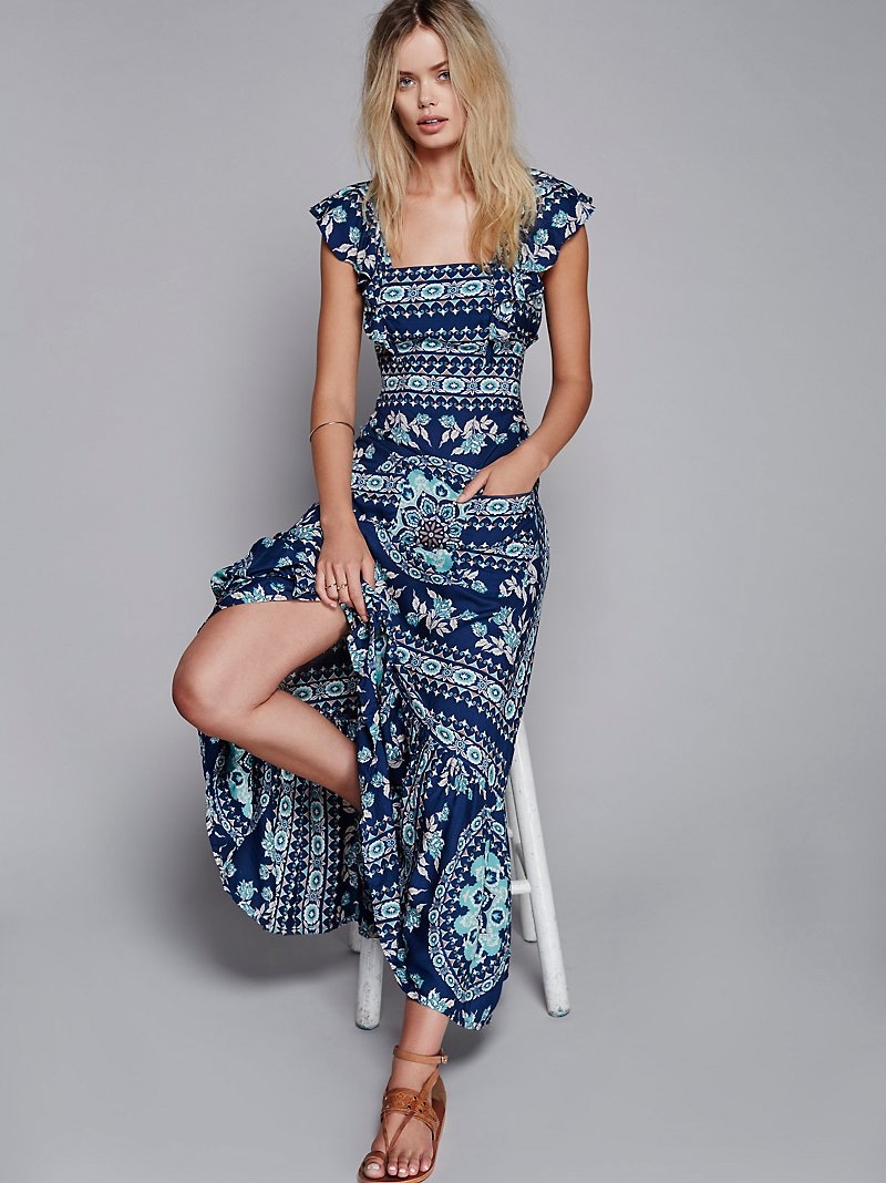 Spell & the Gypsy Collective Frill Printed Maxi Dress