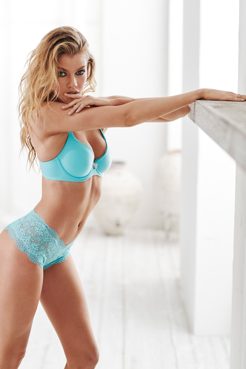 Stella Maxwell poses in Victoria's Secret Body by Victoria Easy collection