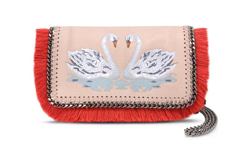 Stella McCartney Rose Falabella Rose Swan Cross Body Bag