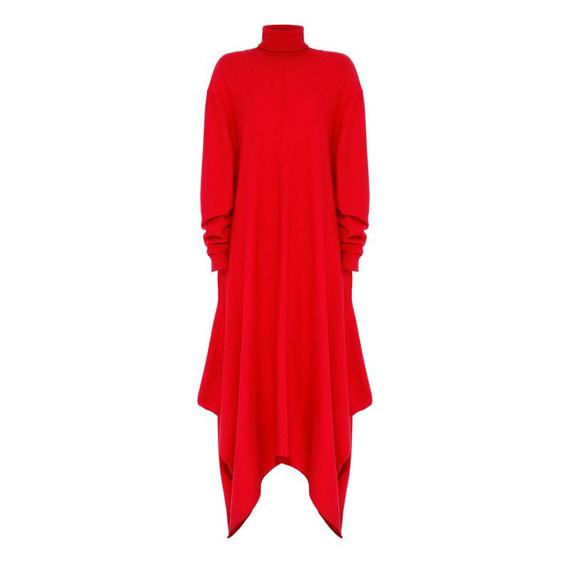 Stella McCartney Scarlet Felted Frills Dress