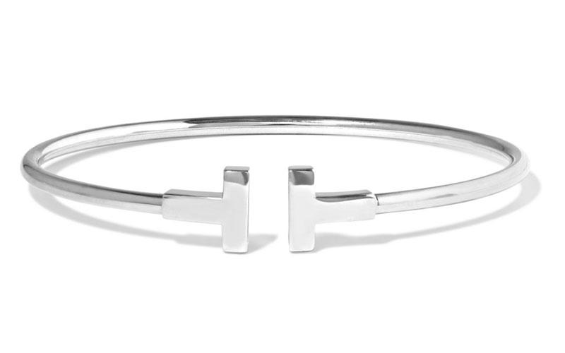 Tiffany & Co. T-Wire 18-Karat White Gold Bracelet