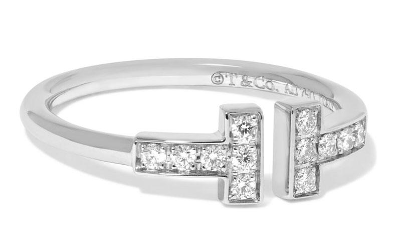 Tiffany & Co. T-Wire 18-Karat White Gold Diamond Ring