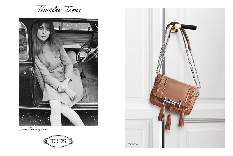 Tod's Features 60's Style Icons in Fall 2016 Ads