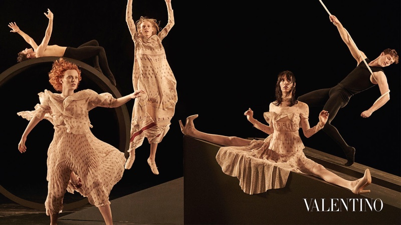 Julia Nobis, Karen Elson and Jamie Bochert star in Valentino's fall-winter 2016 campaign