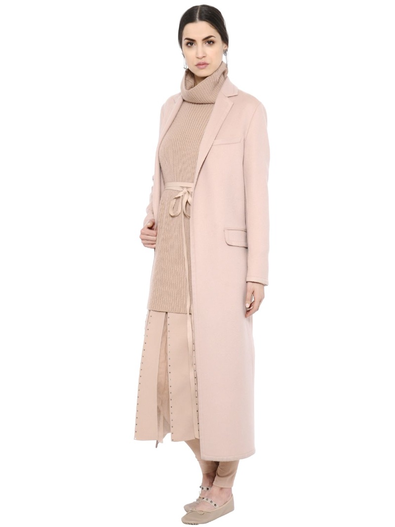 Valentino Light Wool Cashmere Long Coat