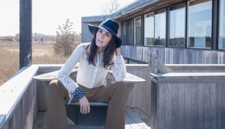 Hilary Rhoda Exudes Elegant Ease in Veronica Beard's Fall Campaign