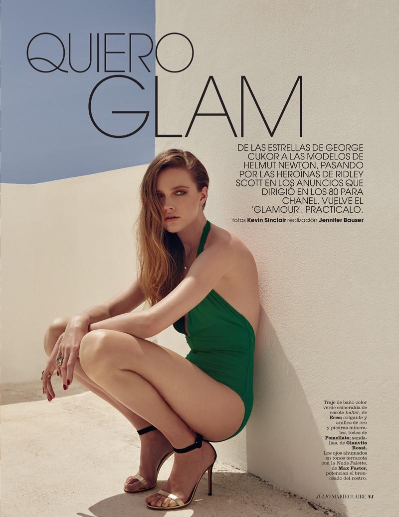 Vlada Roslyakova stars in Marie Claire Spain's July issue