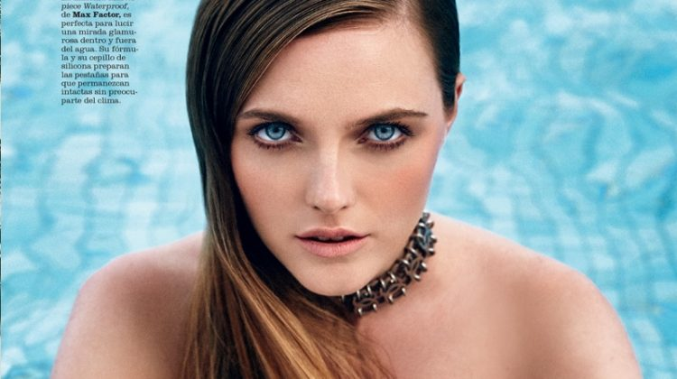 Vlada Roslyakova Delivers Poolside Glamour in Marie Claire Spain