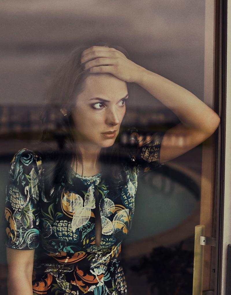 Winona Ryder wears Anna Sui dress