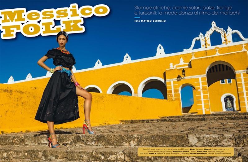 Zhenya Katava stars in Glamour Italy's June issue