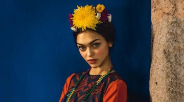 Zhenya Katava Embraces Traditional Folk Style for Glamour Italy
