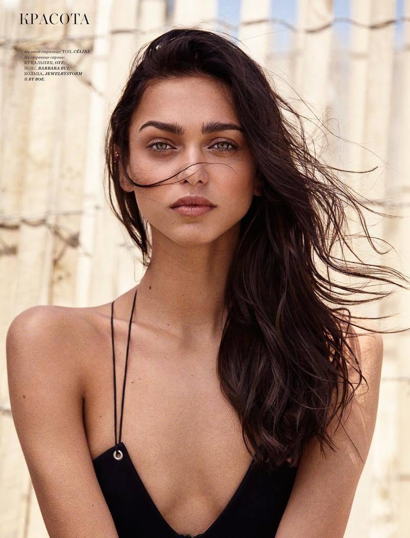 Zhenya Katava gets her closeup with her hair in beachy waves