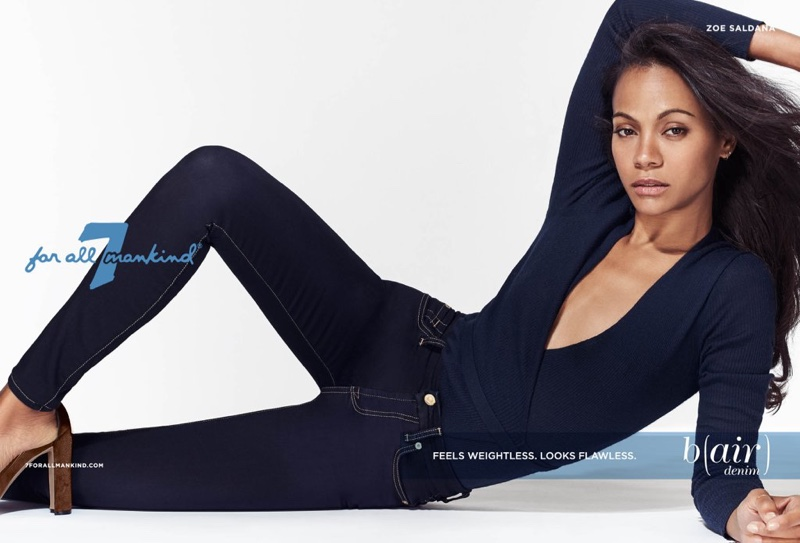 Zoe Saldana stars in 7 for All Mankind's B(air) campaign