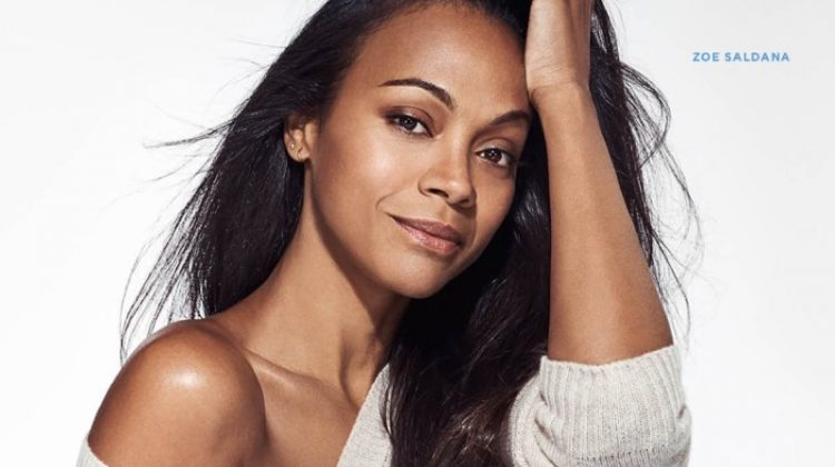 Zoe Saldana Gets Comfortable in 7 for All Mankind's New Denim