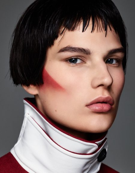 Adela Stenberg Models Graphic Makeup Looks for Vogue Russia