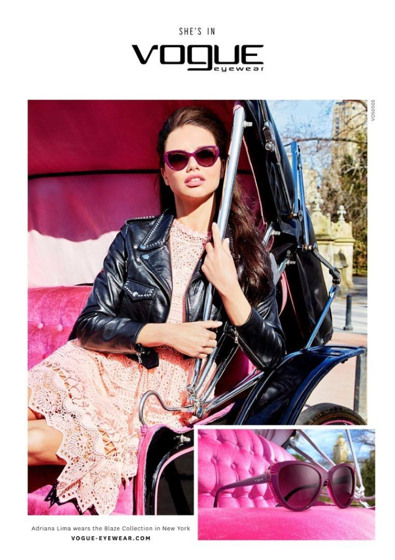 Adriana Lima models the Blaze Collection from Vogue Eyewear