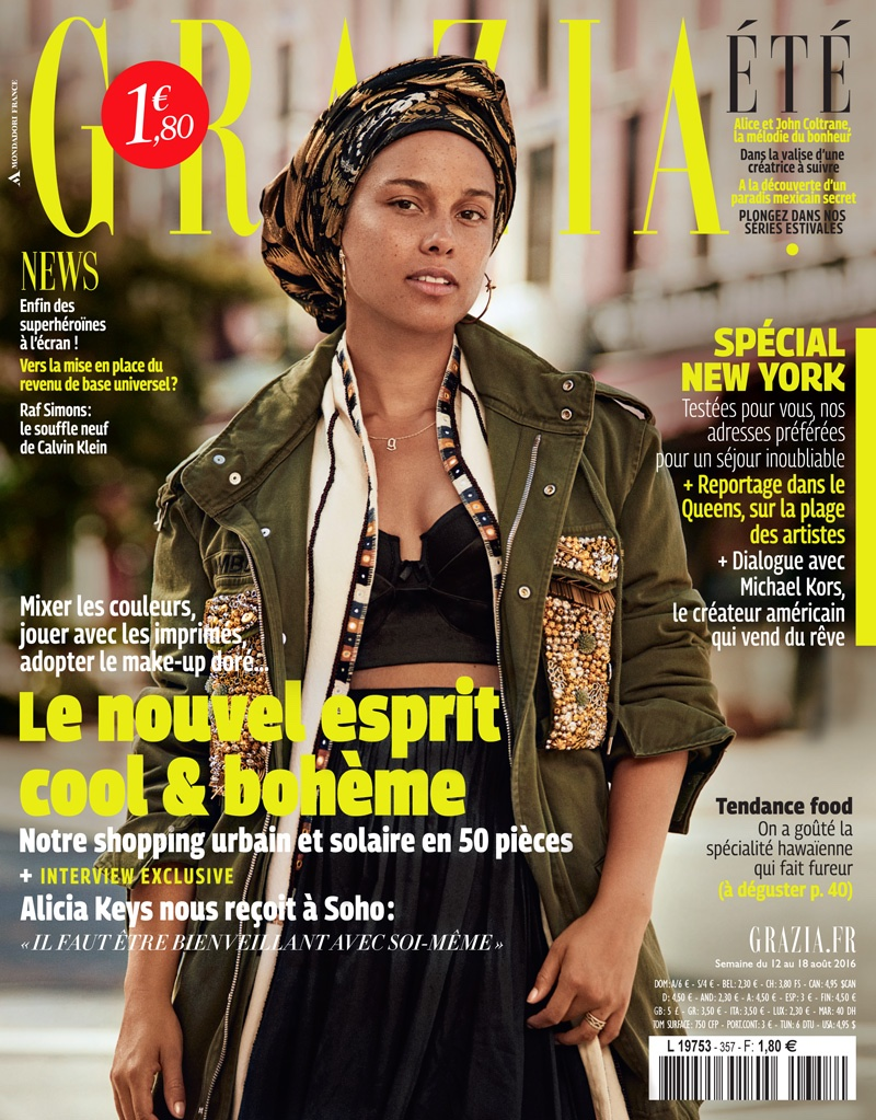 Alicia Keys on Grazia France August 18th, 2016 Cover
