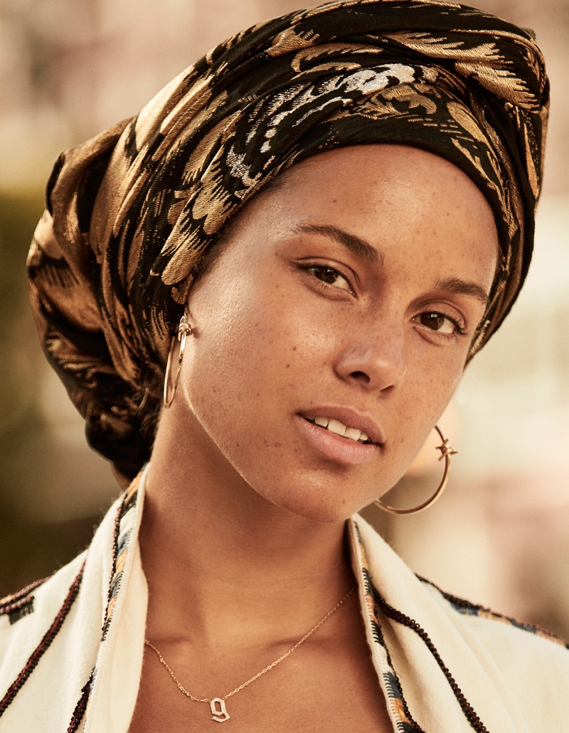 Alicia Keys Hits The Streets Of New York City For Grazia