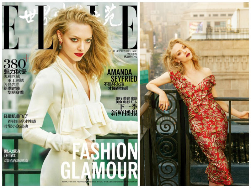 Amanda Seyfried Stuns in Glamorous Looks for ELLE China
