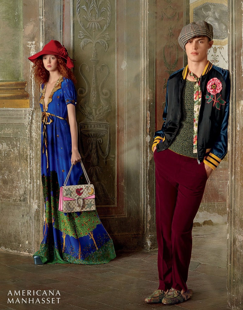 Kit Butler and Natalie Westling wear Gucci's whimsical fall 2016 collection
