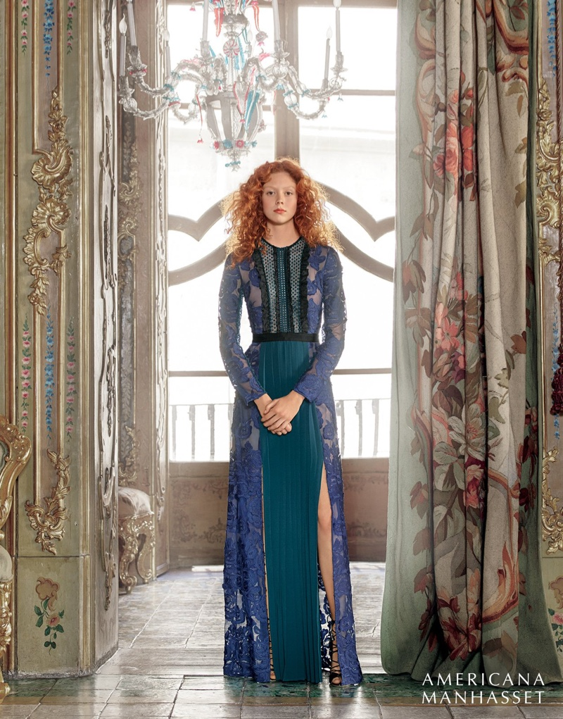 Americana Manhasset fall 2016: Self-Portrait gown and Malone Squliers heels