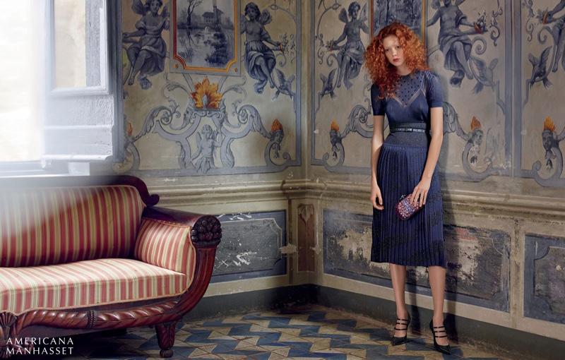 Americana Manhasset fall 2016: Bottega Veneta dress, belt, clutch and heels