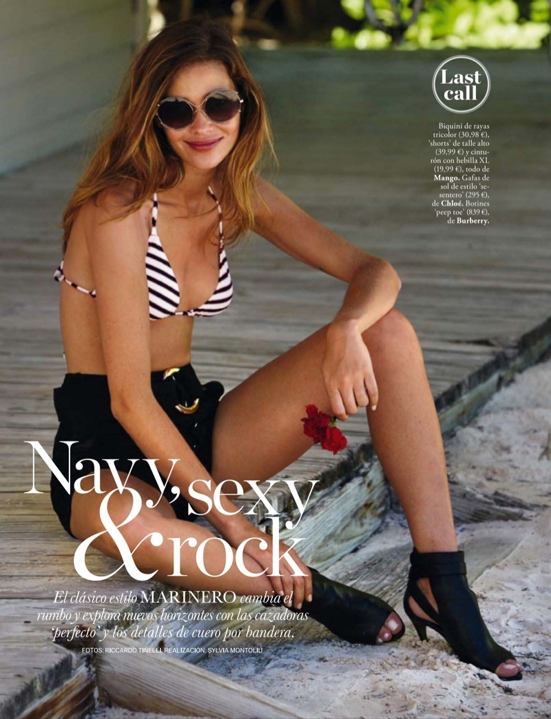 Ana Beatriz Barros stars in ELLE Spain's August issue