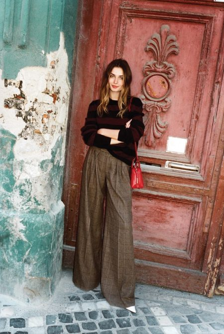 Andreea Diaconu Wears Fall's Coziest Looks in WSJ.