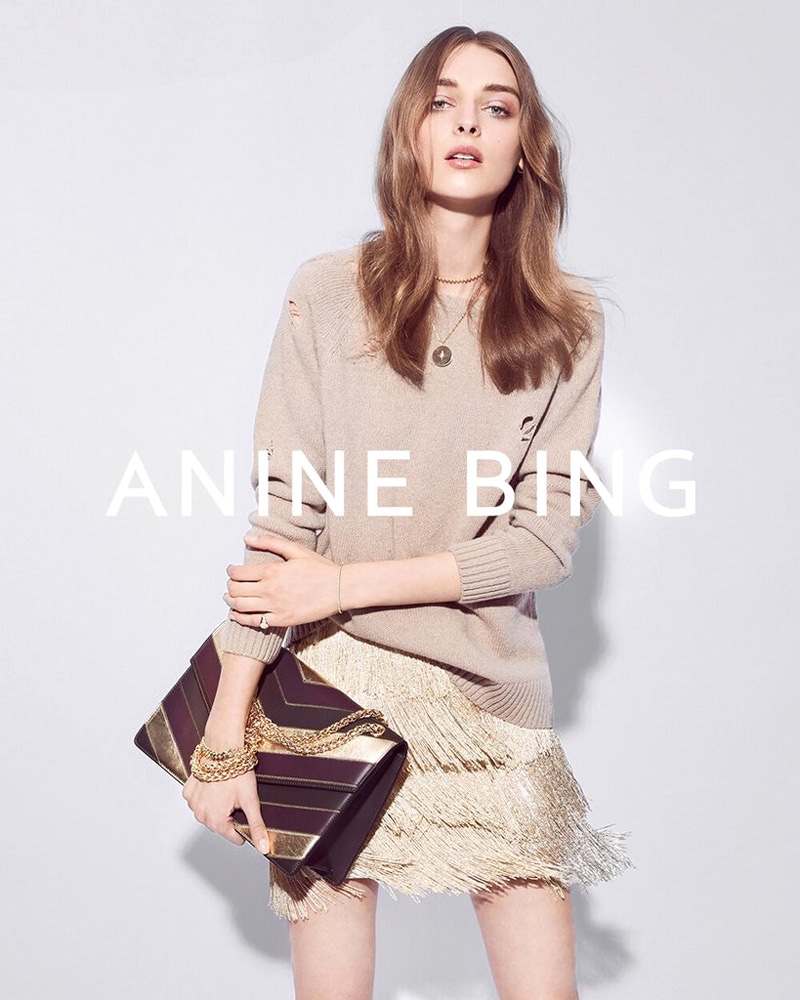 Anine Bing features Patchwork Kensington bag in fall 2016 campaign